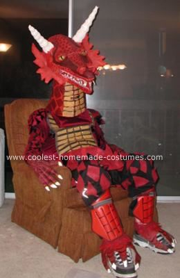 Homemade Dragon Costume: This Homemade Dragon Costume was my most ambitious costume ever. I have always wanted to be a dragon since I love them, but they are really hard to translate