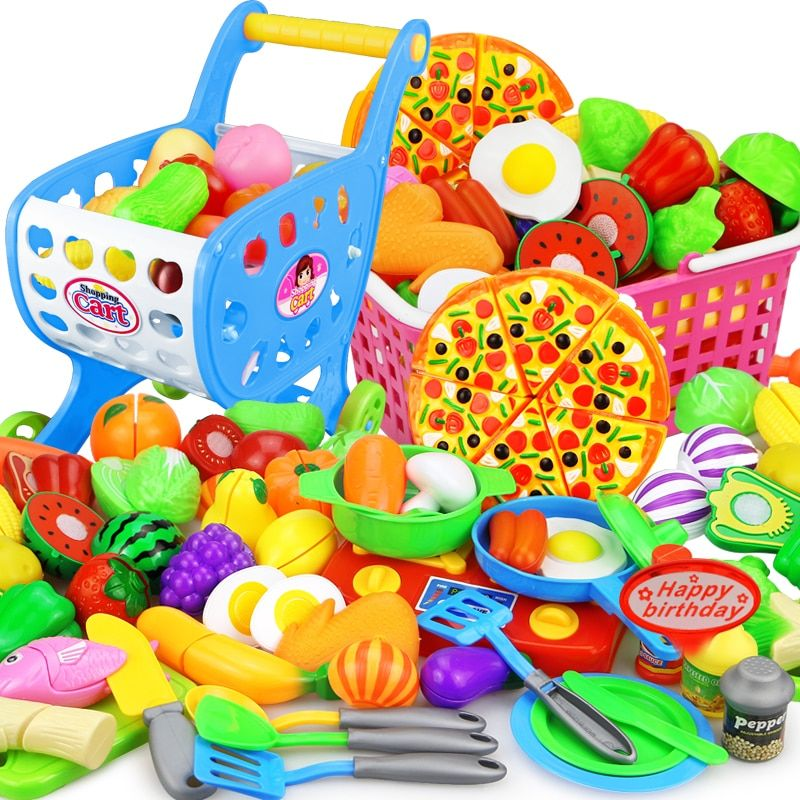 Doll Pretend Play Toys for Children Cut Vegetables Fruit Baby Kitchen Food Toy H