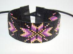 BRACELET MANCHETTE MIYUKI MODELE INDIEN MODELE HANA : Bracelet par bee-ya-creations