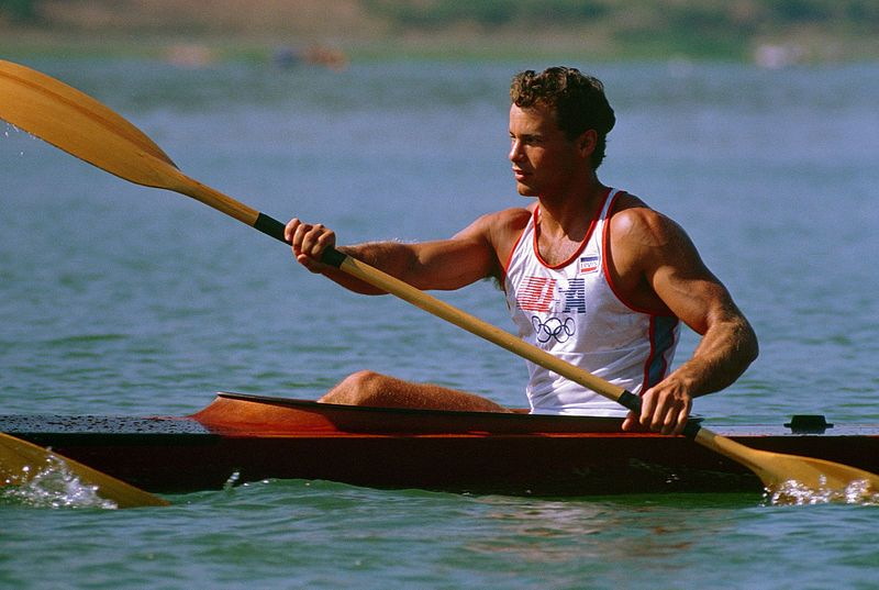 File:Daniel W. Schnurrenberger in the kayak competition at the 1984 Summer Olympics..JPEG