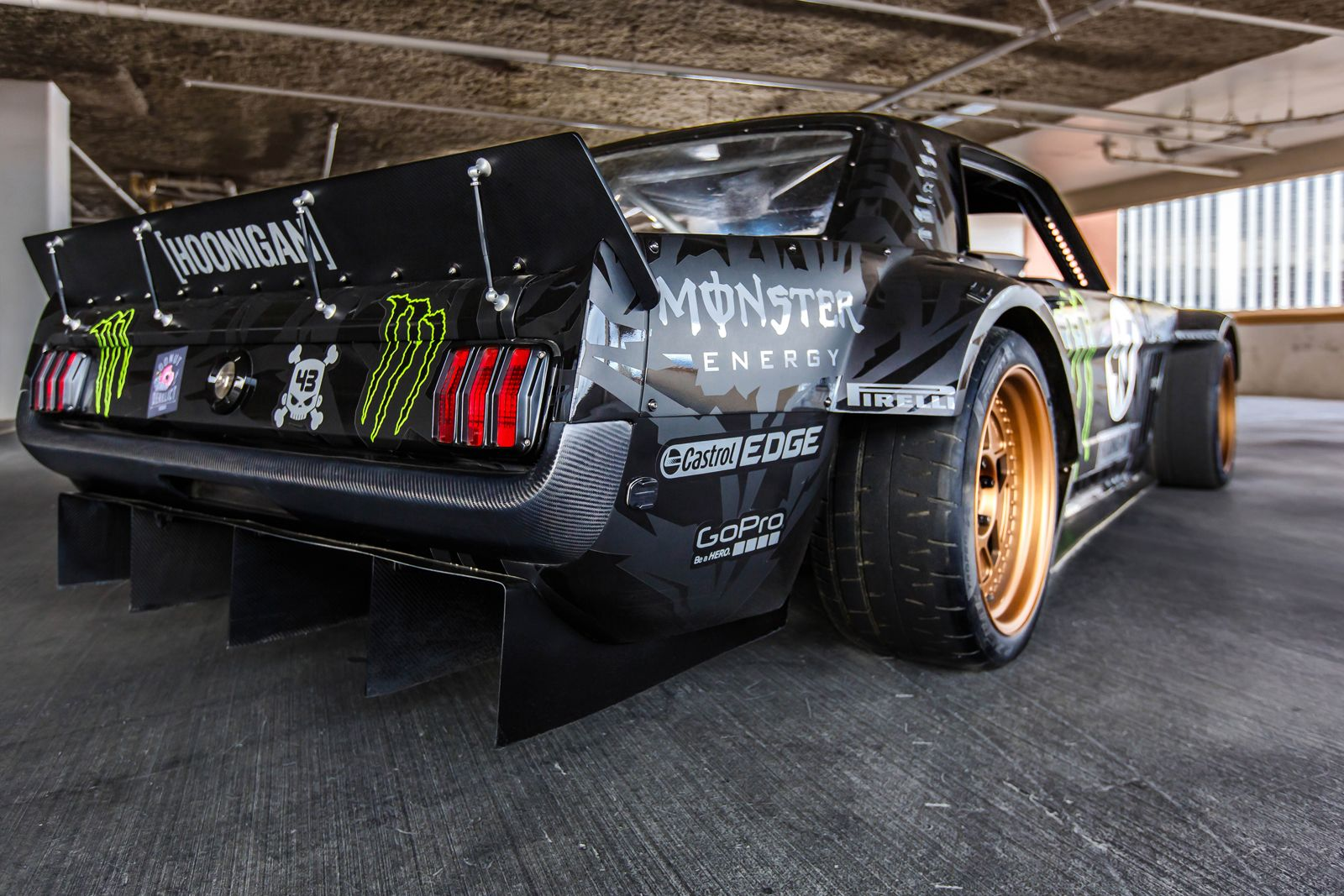 845hp 1965 Ford Mustang Awd Monster Is Ken Block S Car For Gymkhana 7 Ford Mustang Ken Block Mustang Ken Block