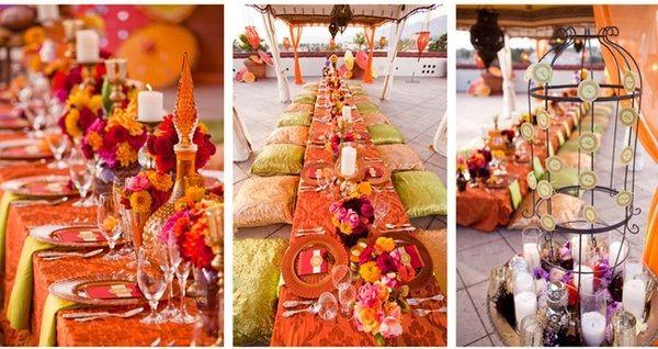 Aladdin theme table settings for the reception disney for Arabian wedding decoration ideas