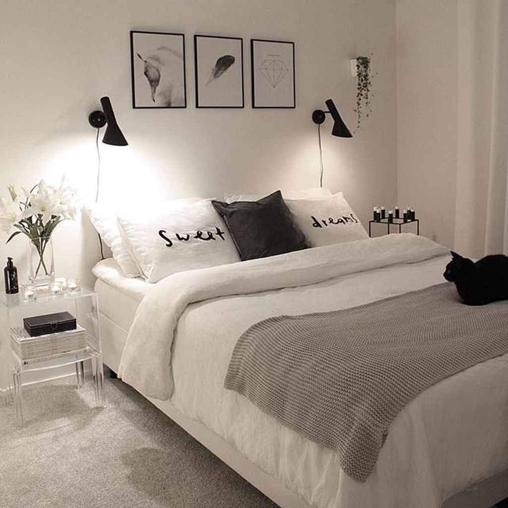 53 Beautiful White Bedroom Decoration That Will Inspire You #bedroom