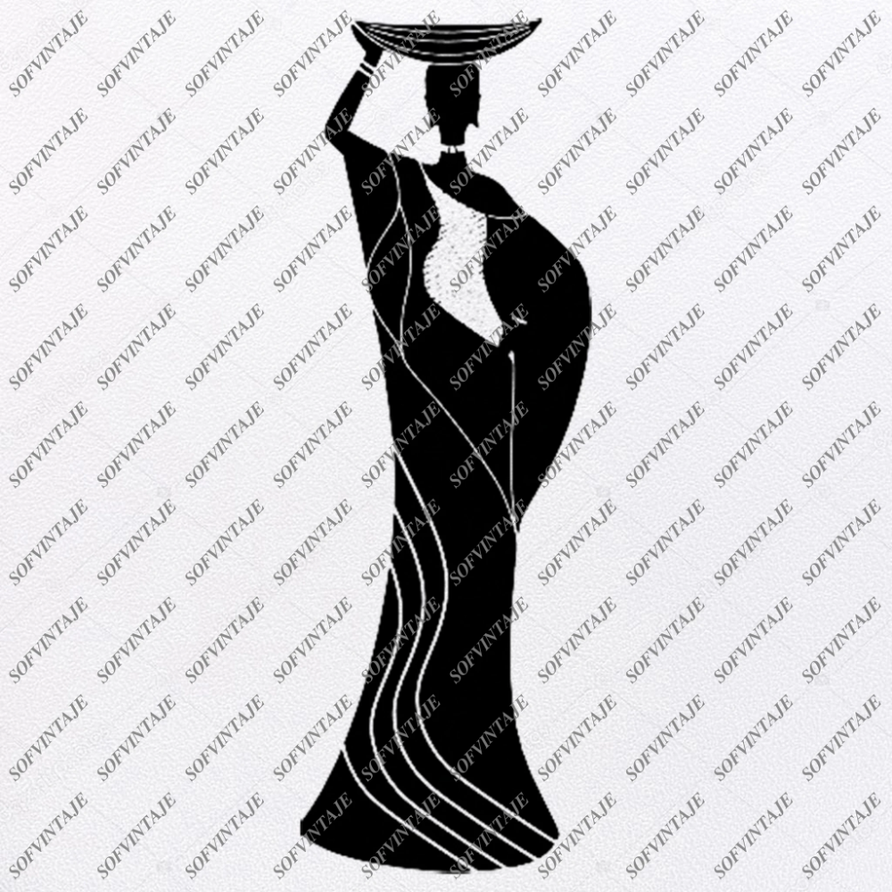 African American Girl Silhouette Svg Files Svg Files For