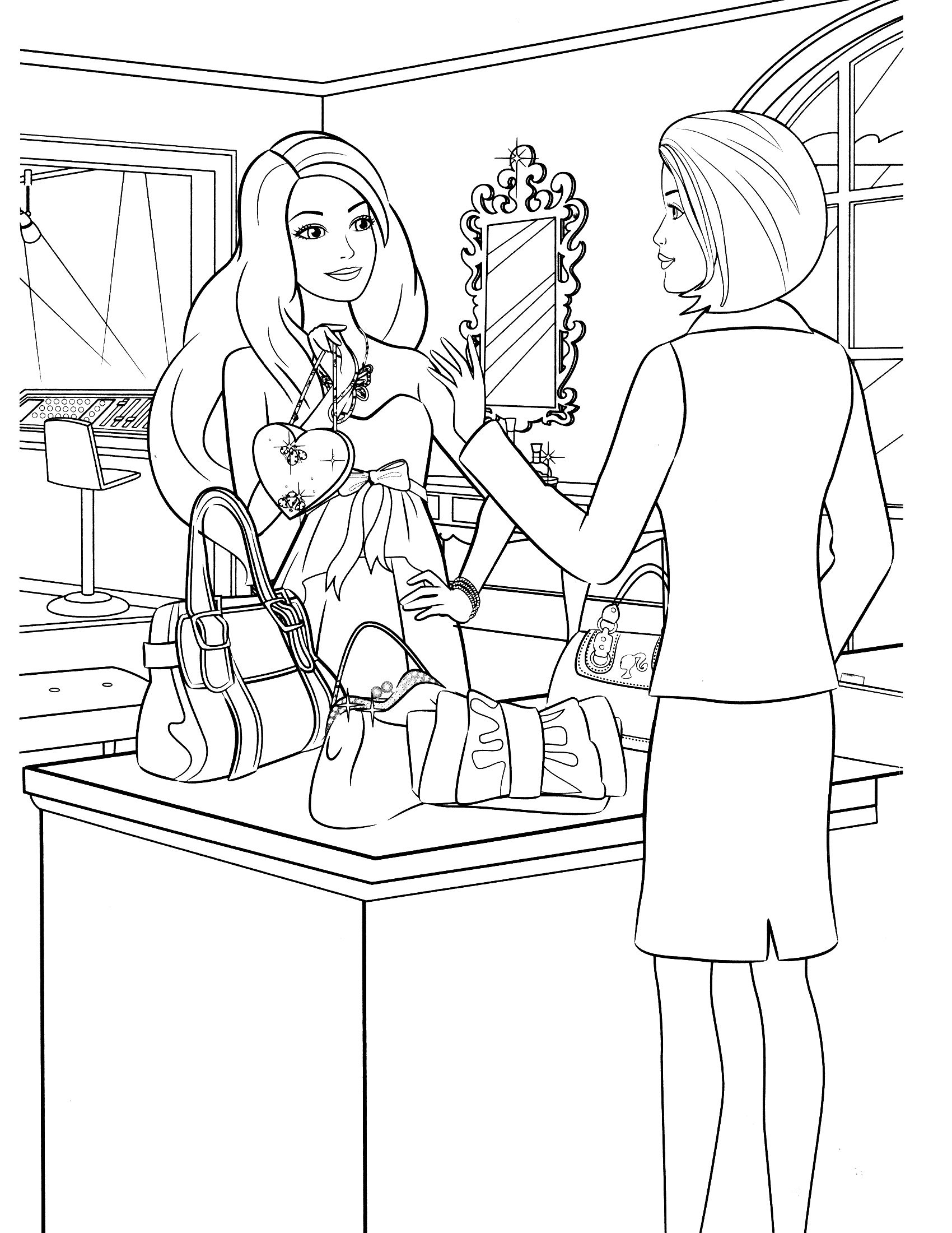 barbie coloring pages - Google-søgning | DRAWING & COLORING ...