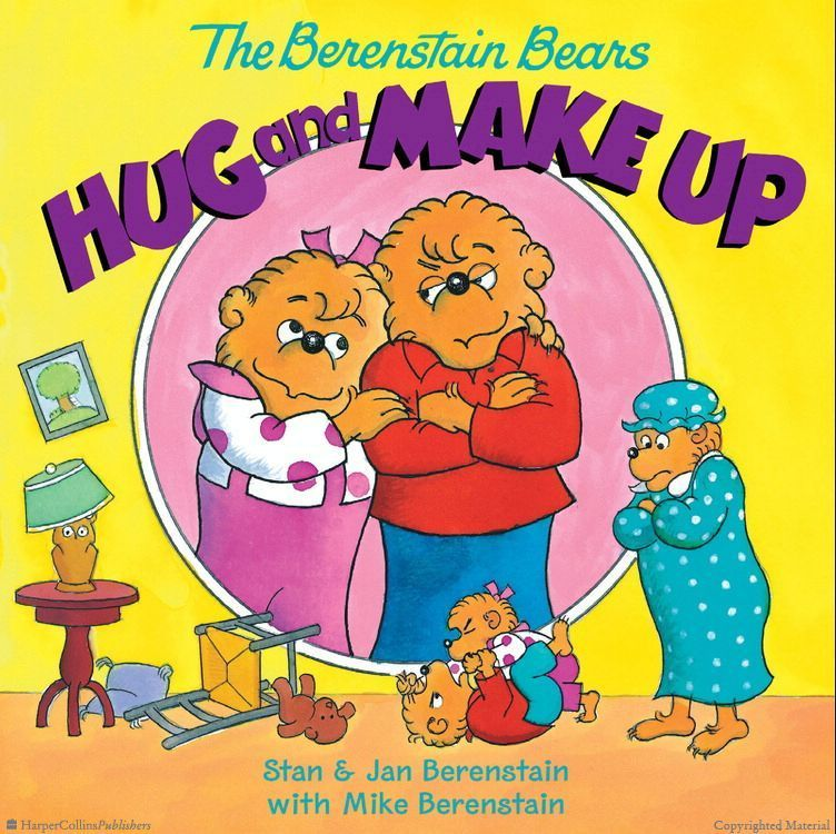 The Berenstain Bears Hug And Make Up Paperback Berenstain Bears Bear Hug Teddy Bear Day