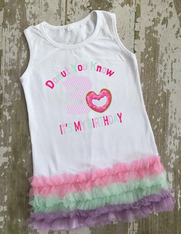Donut You Know it's My Birthday Tunic with Bow