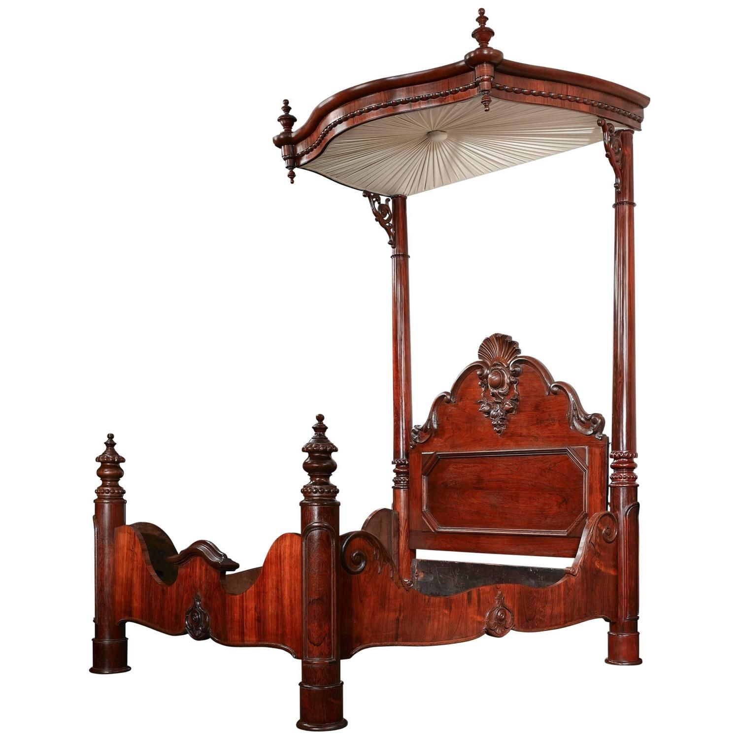 ... for sale at - This exceptional American Rococo Revival half-tester bed  displays the hallmarks of the great New Orleans cabinetmaker Prudent  Mallard, ... - Prudent Mallard Half-Tester Bed Mallard, Bed Frames And Rococo