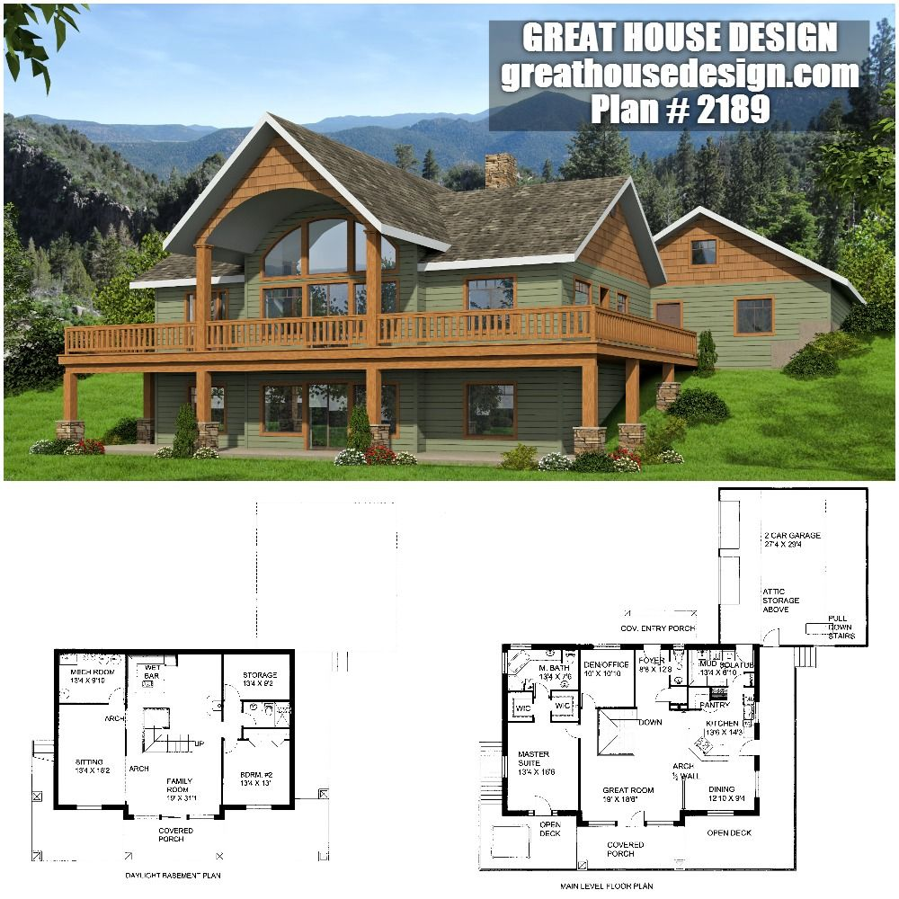 2 Story Rustic Home With Large Windows Icf Plan 2189 Barn House Plans Lake House Plans Modern Farmhouse Plans