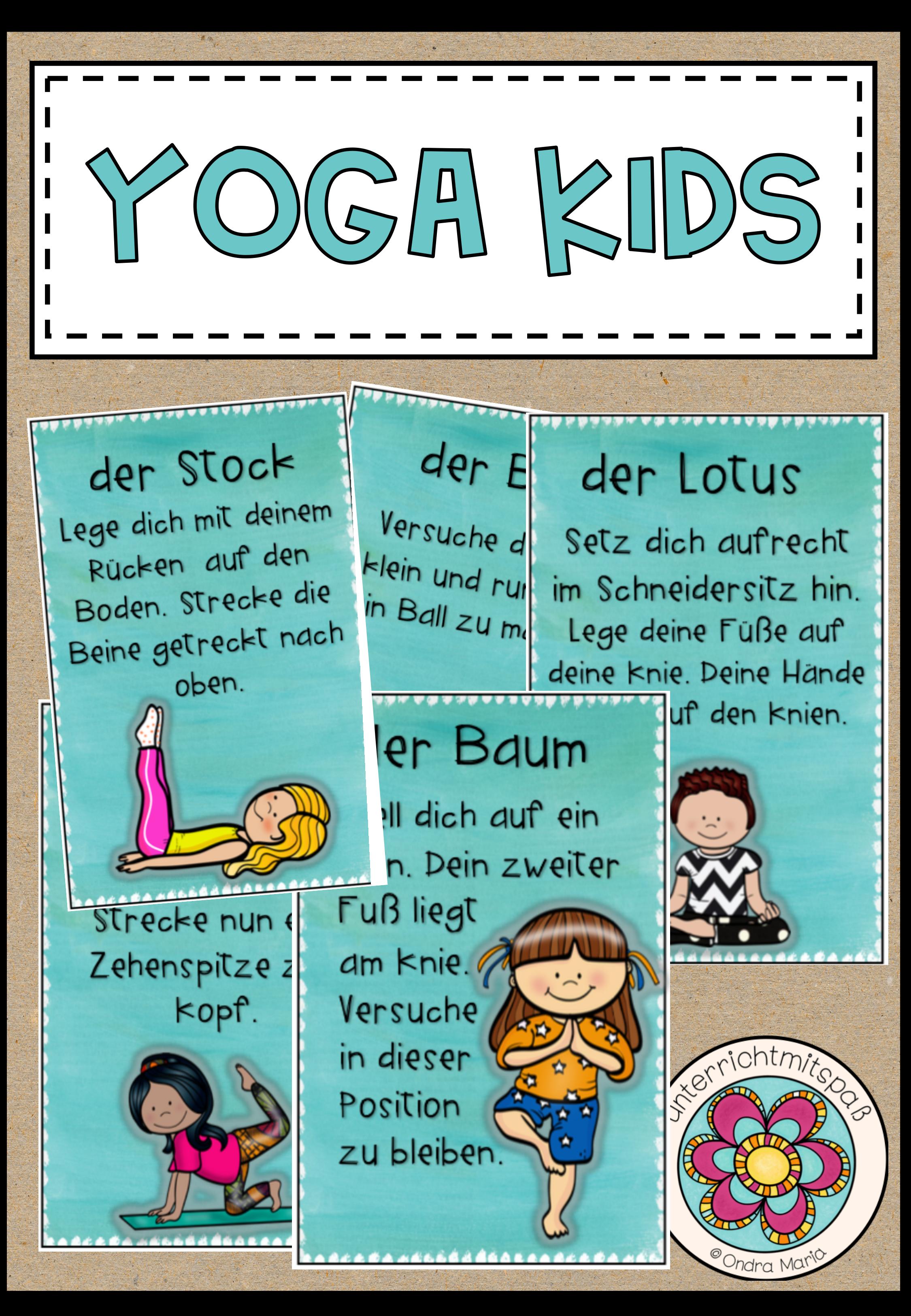 Yoga Kids - 32 Yogaübungen für Kinder – Unterrichtsmaterial in den Fächern Fachübergreifendes & Sport