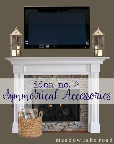 Decorating A Mantel With A Tv Above Meadow Lake Road Fireplace