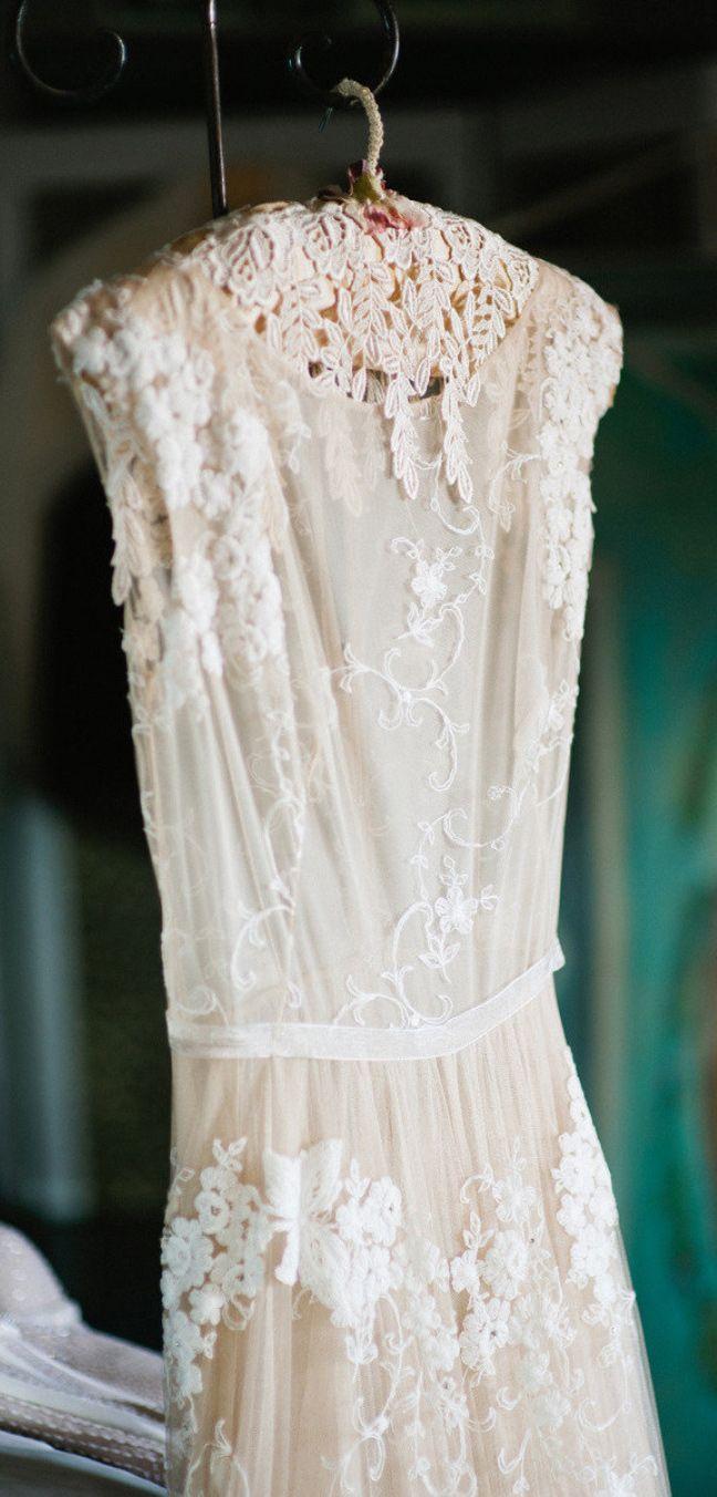Simple lace dress styles  Crochet lace wedding dress  Francois Vedemme  Wedding style