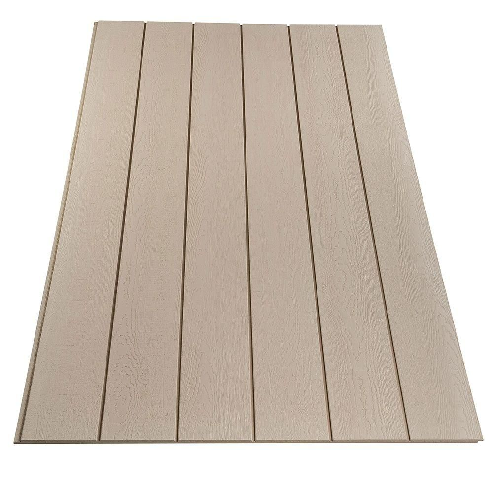For Ceiling Null Plywood Siding Panel Duratemp Primed 8 In Oc Common 19 32 In X 4 Ft X 8 Plywood Siding Exterior Panel Siding Exterior Wood Siding Panels