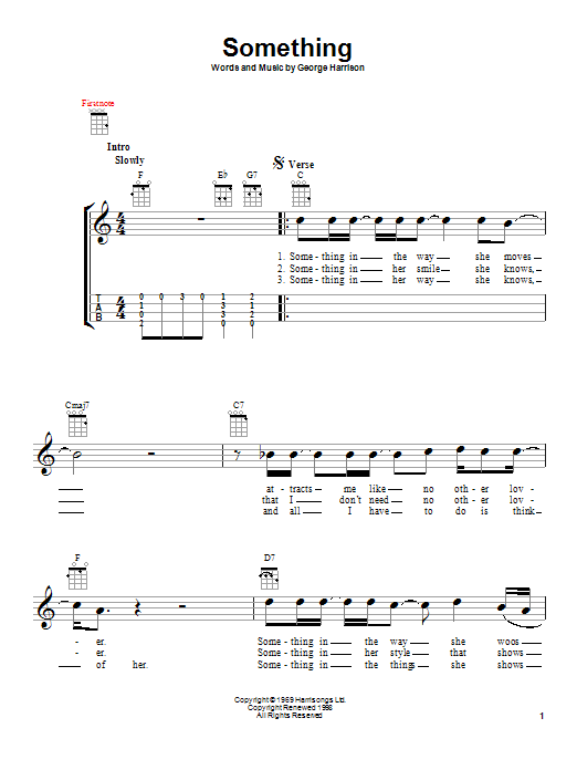 The Beatles Something Sheet Music Notes Chords Download