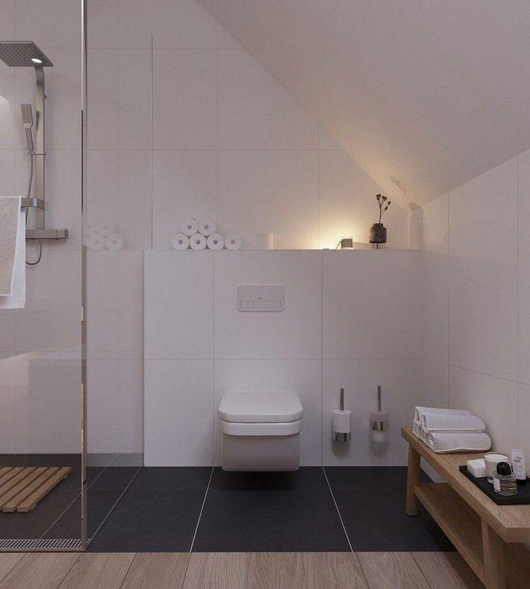 Skandinavisch Einrichten Eine Wohnung In Minsk Mit Modernem Interieur Skandinavisch Einrichten B In 2020 Badezimmer Dachschrage Badezimmer Design Design Fur Zuhause