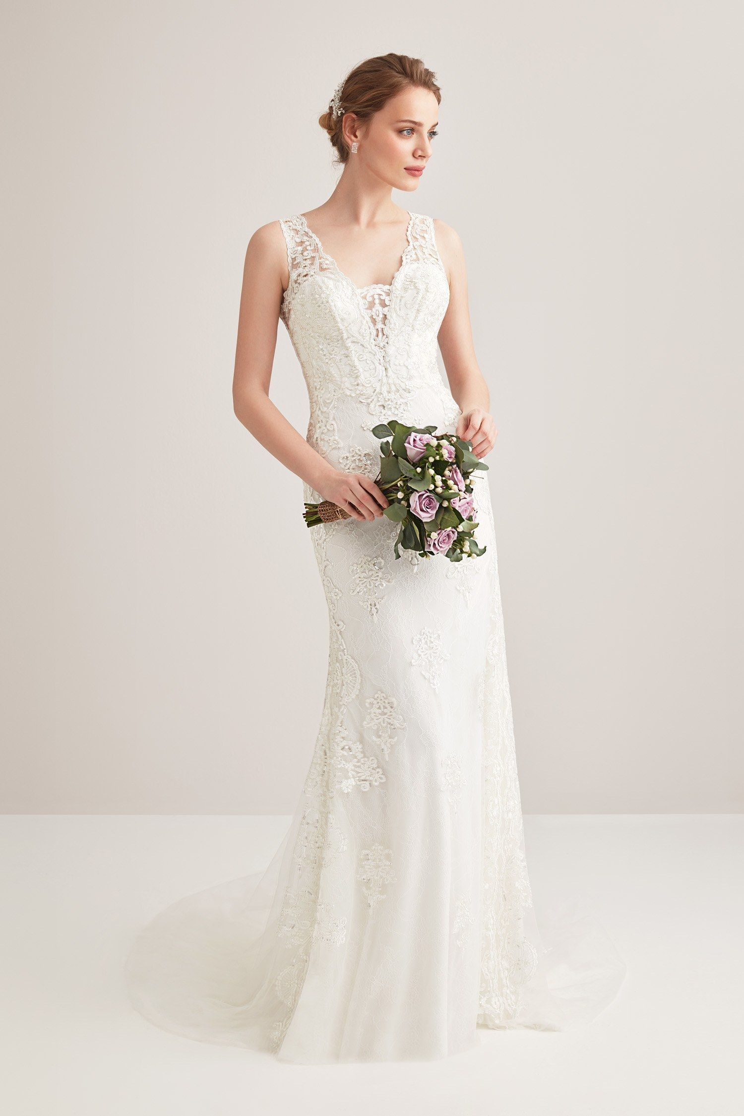3d2598decfbd9 Narrow Cut Hanger Ruched Wedding Dress Oleg Cassini 2018. Beautiful dress  and you can enlarge