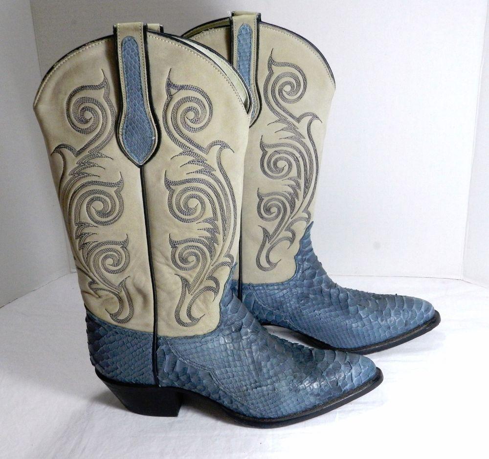 3fde2a67d95 Details about Tony Lama Size 6.5 M Women's Black Western Cowboy ...