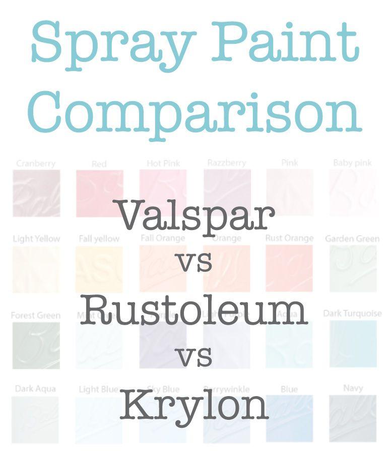 spray paint color choices: valspar rustoleum and krylon | diy