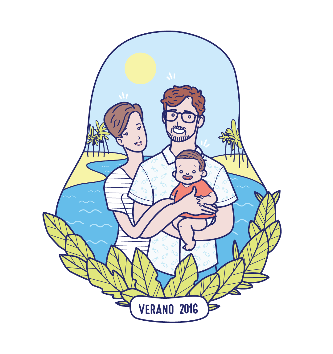 Sofia and Family  #avatar #customized #customized illustration #illustration #cartoon #avatar cartoon #johann andreu