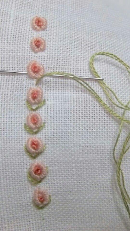 Punto vapore | Brazilian Embroidery | Pinterest | Bordado, Puntadas ...