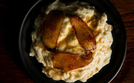 Celery Root Puree with Pears