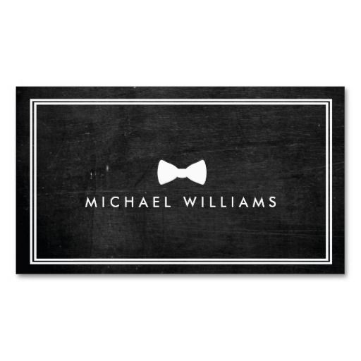 Rustic And Refined Men S Classic Bow Tie Logo Business Card Zazzle Com Business Card Logo Rustic Business Cards Printing Business Cards
