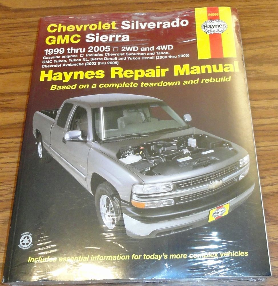 new haynes 24066 repair manual chevy silverado gmc sierra 1999 2005 rh pinterest com 2006 Yukon 2000 Yukon XL