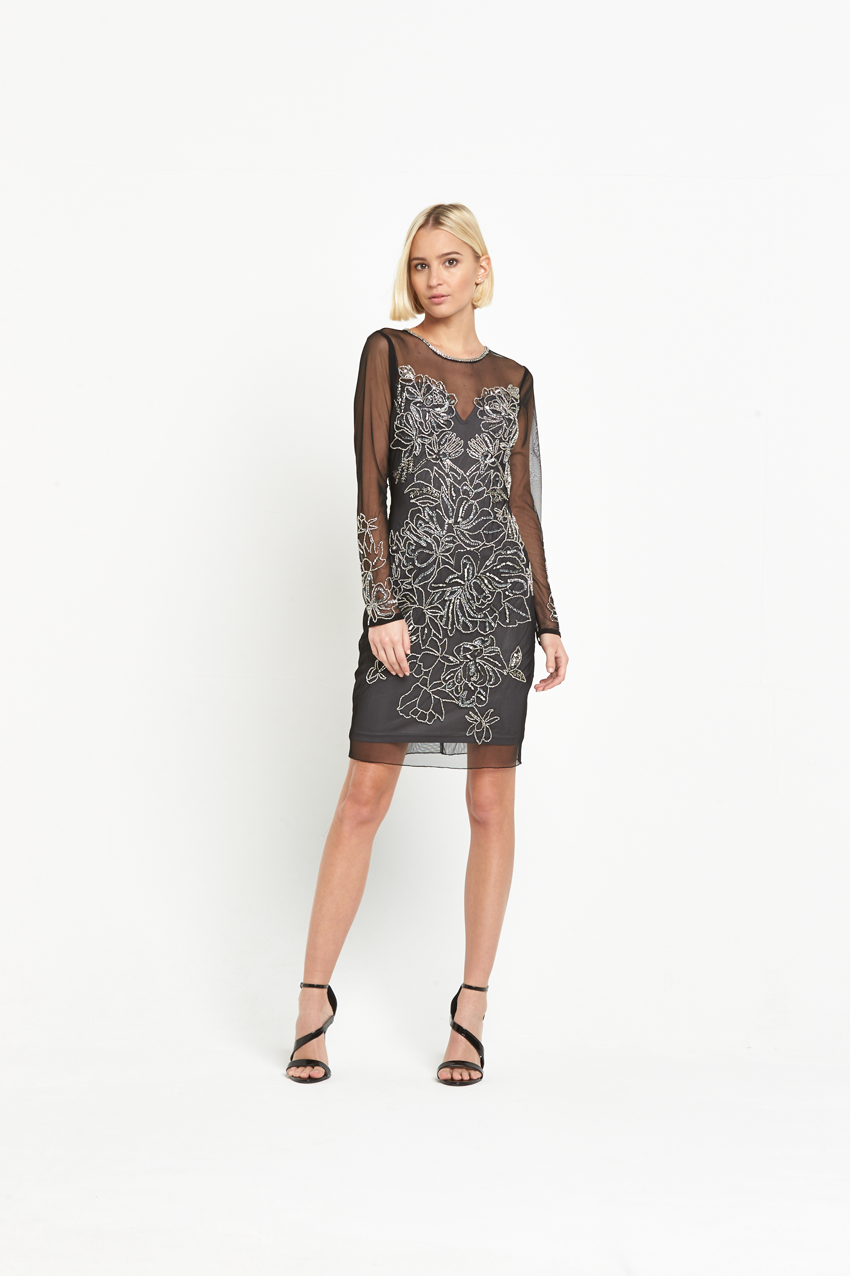 Bargain Crazy - Miss Selfridge Mini Kim Long Sleeve Bodycon Dress ... e65bfabea