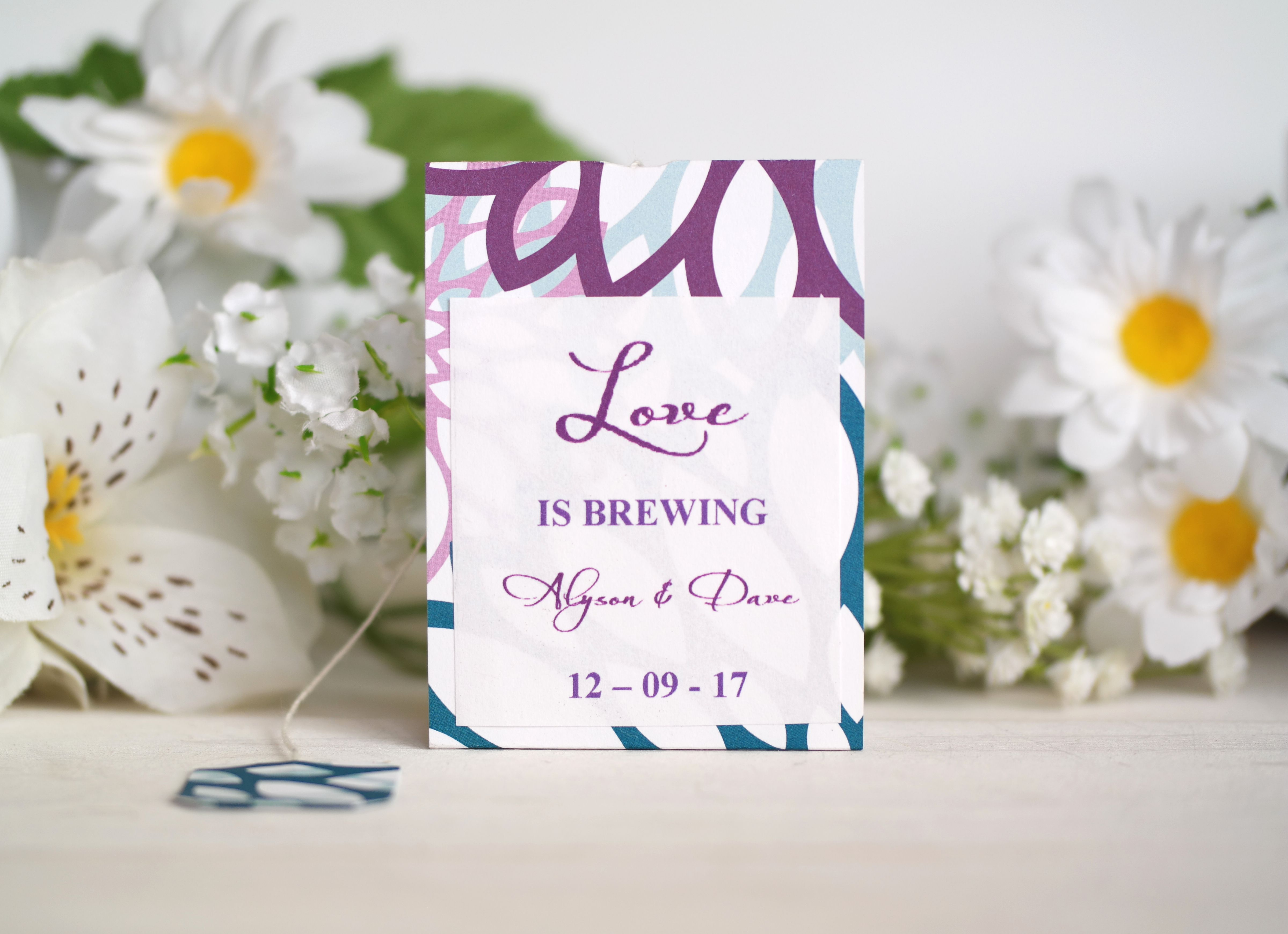 Personalized Tea Bag Party Favors   Tea Bag Party Favors   Pinterest ...