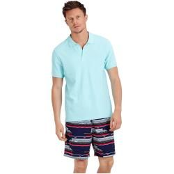Photo of Herren Ready to Wear – Solid Polohemd aus Baumwollpikee für Herren – Polohemd – Palatin – Blau – L