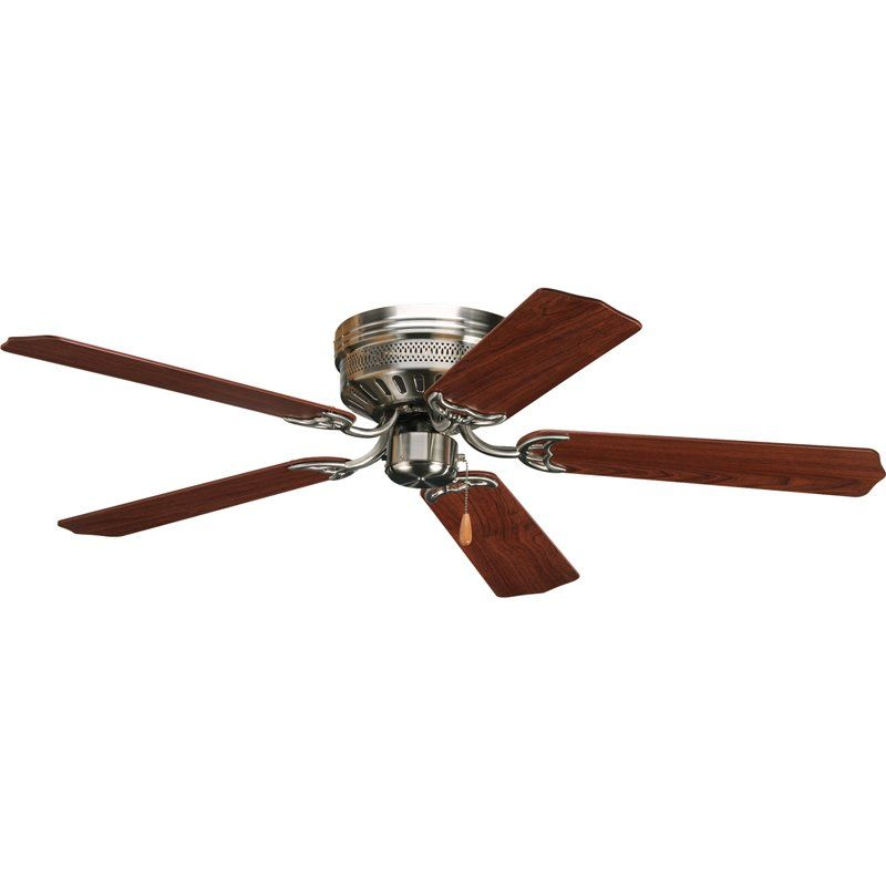 52 Scotty 5 Blade Standard Ceiling Fan With Pull Chain Hugger Ceiling Fan Ceiling Fan Flush Mount Ceiling Fan