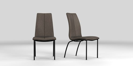 Pleasing Buy Opus Set Of 2 Set Of 2 Monza Leather Effect Charcoal Gamerscity Chair Design For Home Gamerscityorg