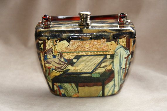 Stella Page Decoupage Purse By Lakeforestre On Etsy 125 00