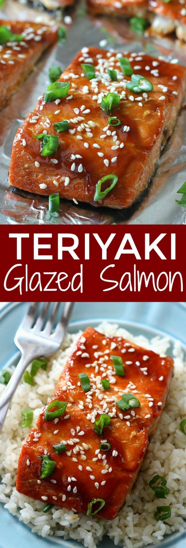 Teriyaki Glazed Salmon Recipe #salmonteriyaki