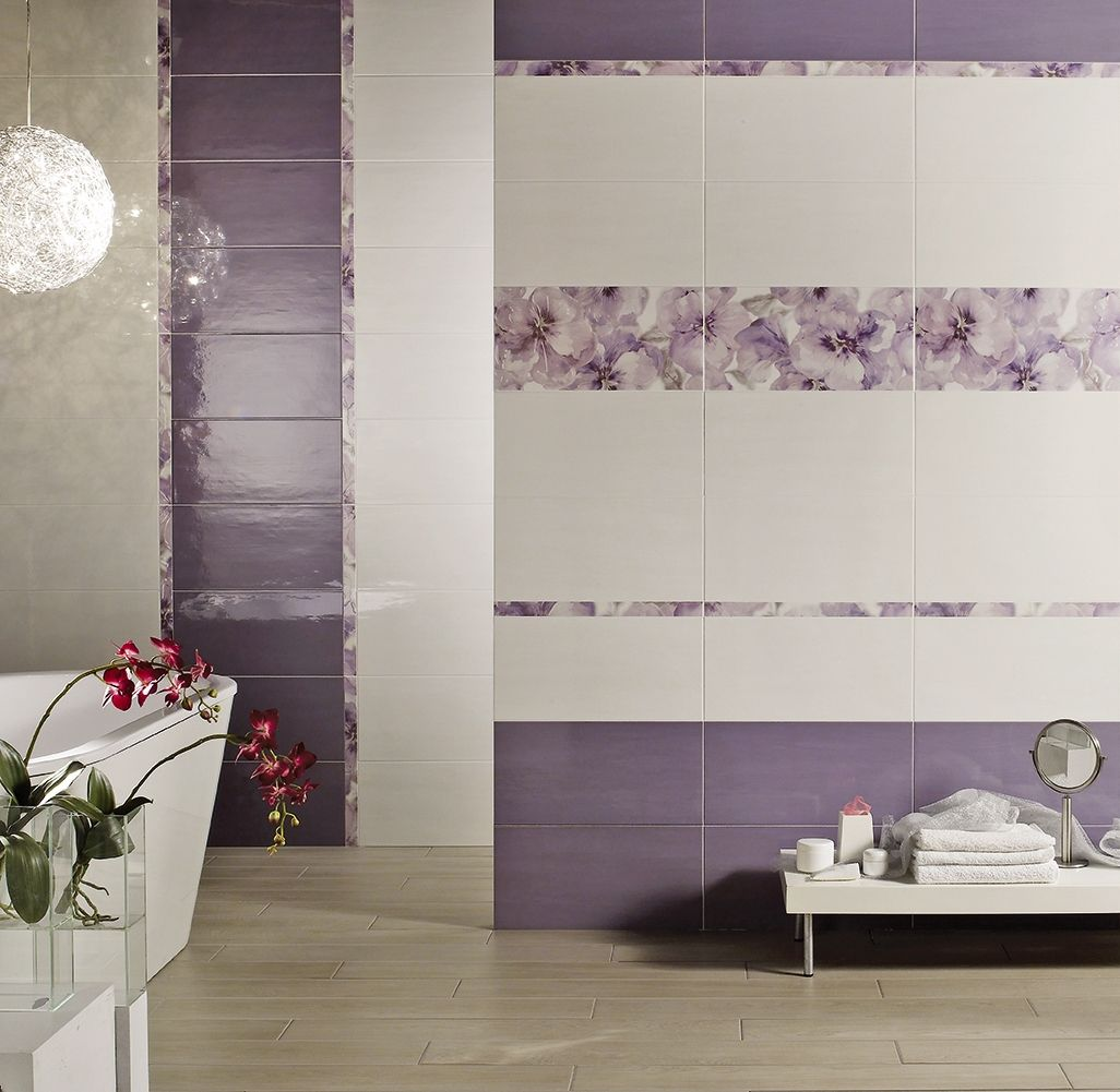 Image result for piastrelle bagno con fiori in rilievo