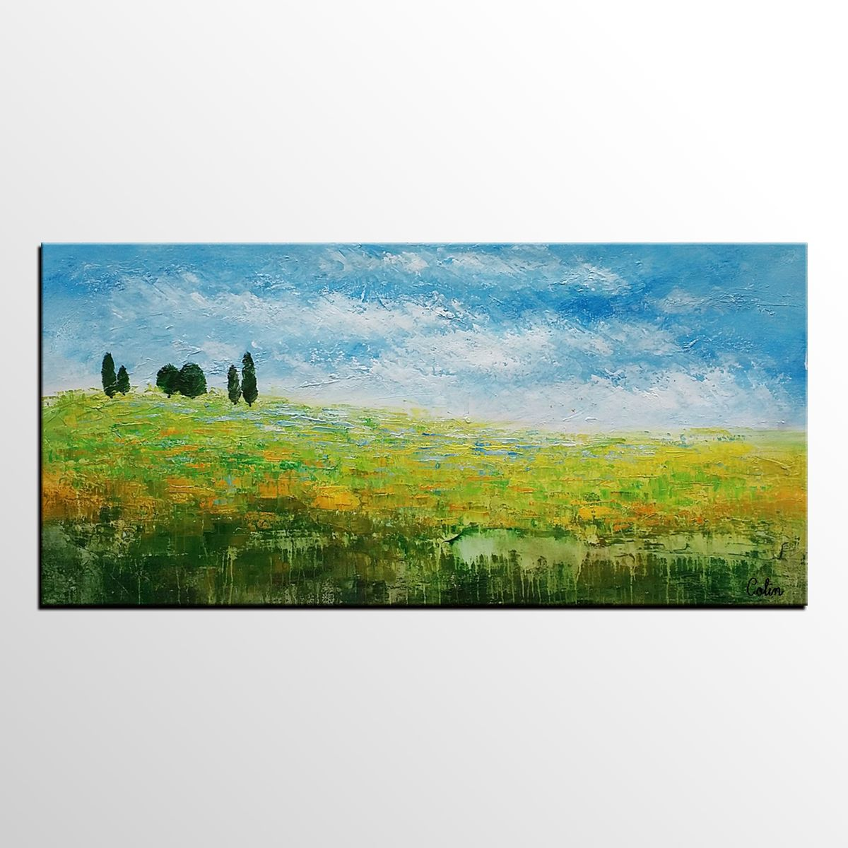 Oil painting landscape painting original art abstract by
