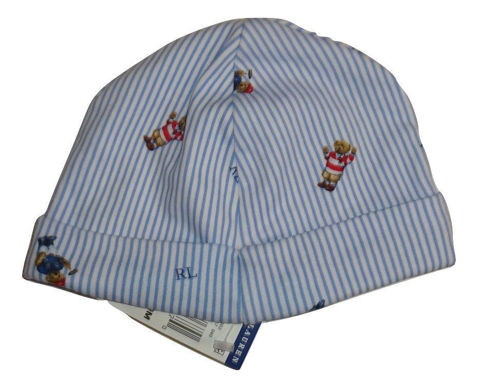 67f059219ff73 Polo Ralph Lauren Baby Boys Allover Bear Print Beanie Cotton Hat One size  3M   9  PoloRalphLauren  Beanie
