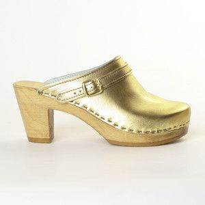 Sling Strap Clog High Gold now featured on Fab.