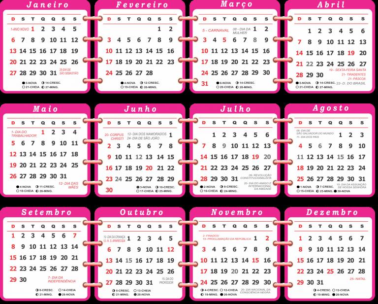 Calendario 2019 Rosa Portugues.Base Calendario 2019 Rosa Imagem Legal Creative