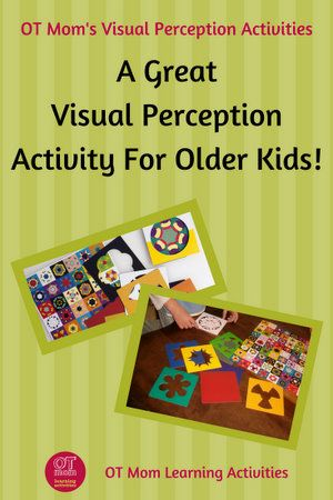 Kaleidograph is a great visual perception resource, especially for older kids!