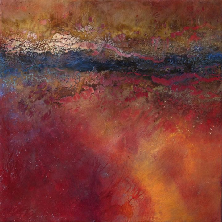 Emerging 17 24 x 24 x 2 Encaustic and Mixed Media on Panel