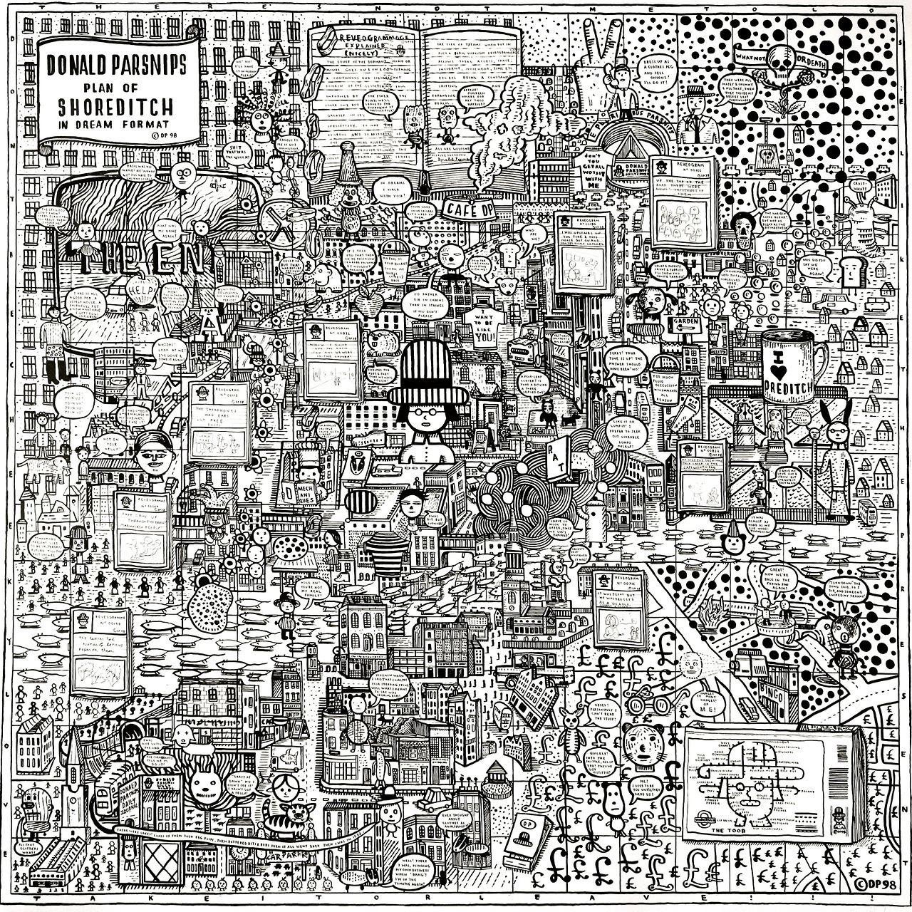 Adam Dant, Plan of Shoreditch, 2012