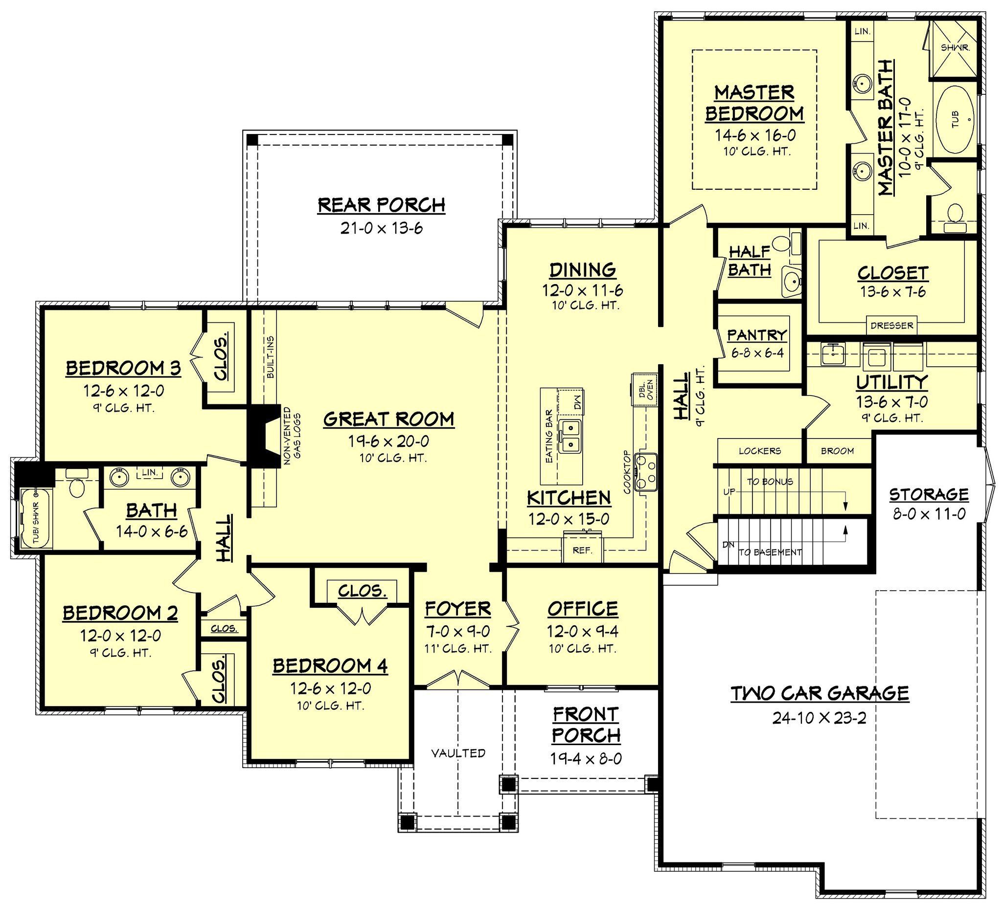 This beautiful bedroom craftsman style house plan offers great