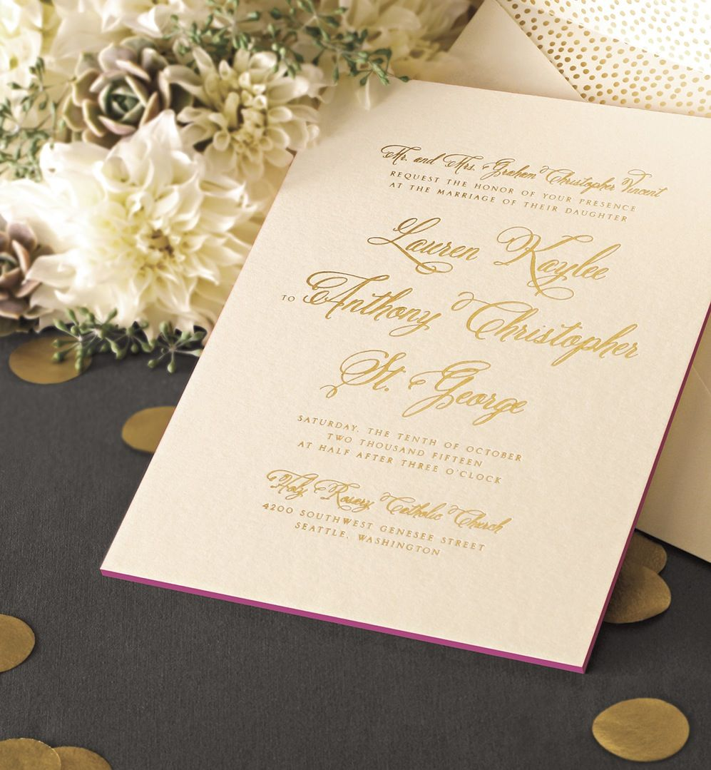 Foil Stamped Ecru Painted Edge Card: Put On Your Loveliest