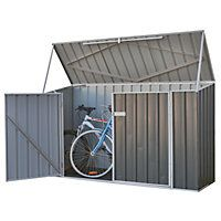 Absco Metal Bike Shed - Grey
