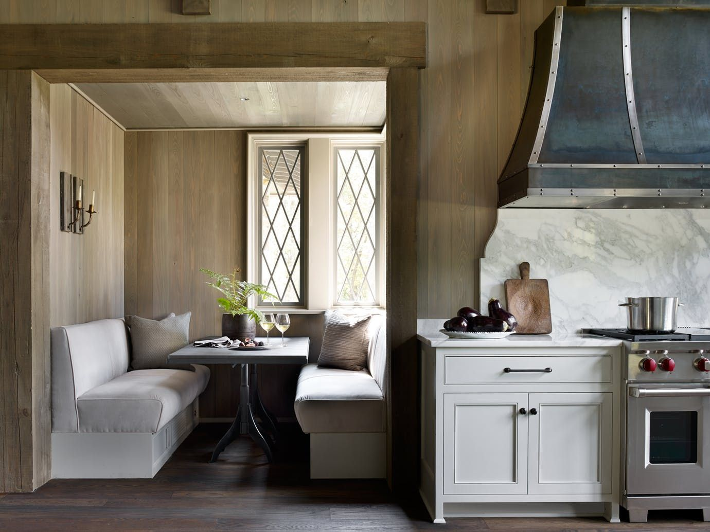 Farmhouse On Shades Creek Kitchen Dining Breakfast Room Architectural Details Modern By Jeffrey Dungan Architects