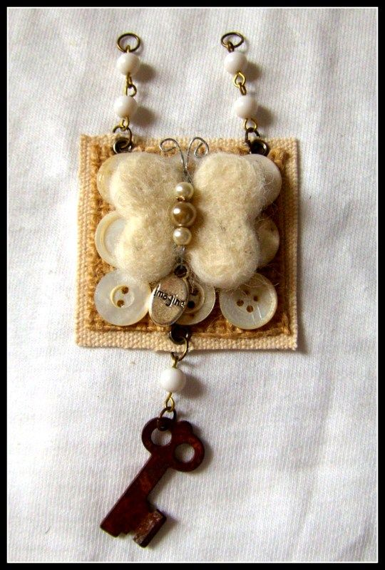 Butterfly+Mixed+Media+Charm $24.95