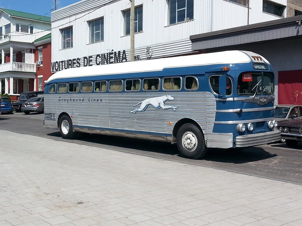 This 1948 Greyhound Bus From The Ny Museum Of Transportation