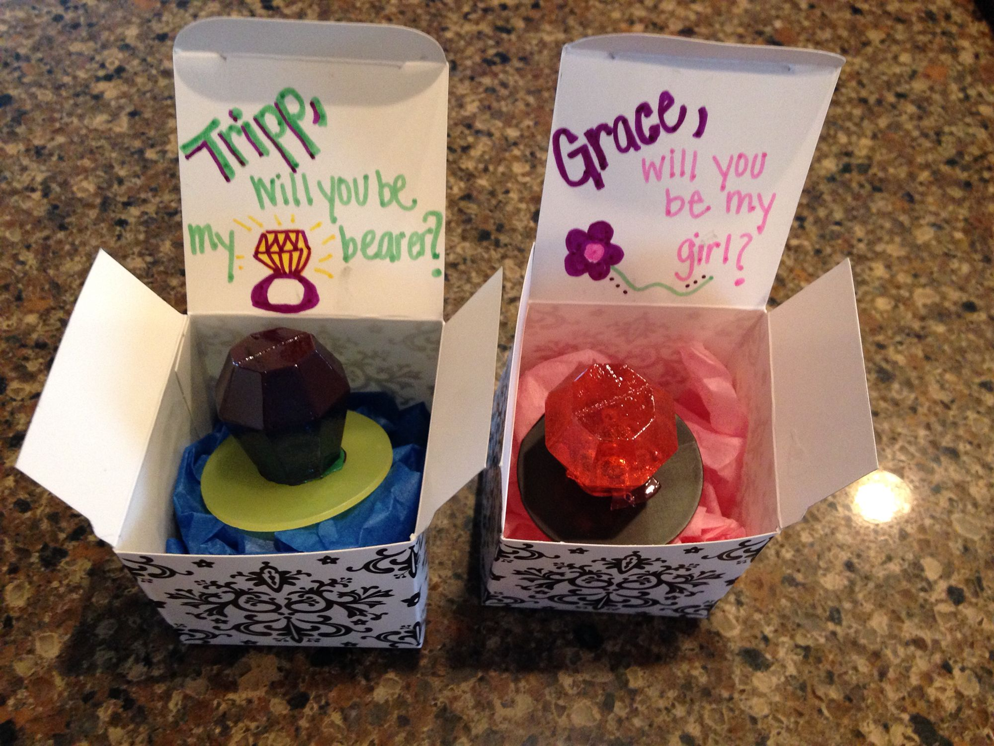 Easy And Cute Way To Ask Our Flower Girl And Ring Bearer To Be In Our