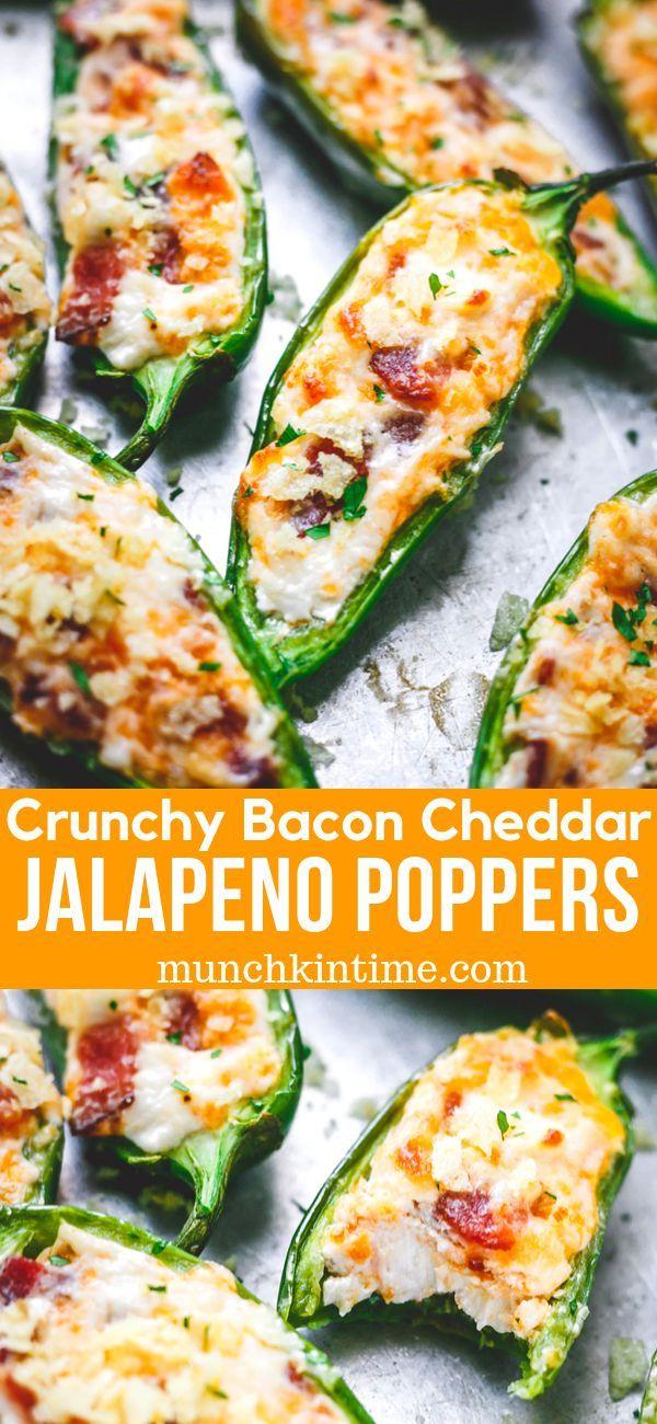 Crunchy Bacon Cheddar Jalapeno Poppers Recipe